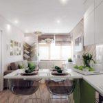 пример светлого дизайна гостиной комнаты 25 кв.м фото