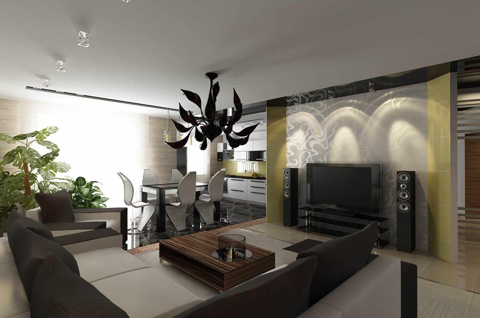 пример светлого декора гостиной комнаты 25 кв.м