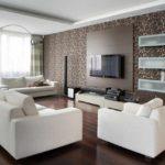 идея светлого стиля гостиной комнаты 17 кв.м картинка