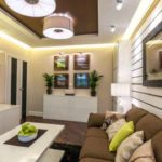 идея красивого стиля гостиной комнаты 25 кв.м фото