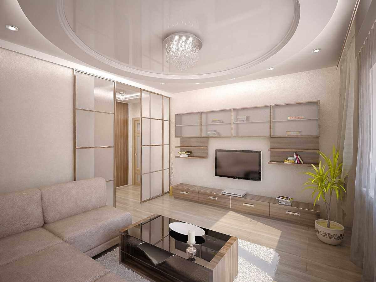 пример красивого дизайна гостиной комнаты 2018