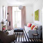 вариант яркого декора гостиной комнаты 16 кв.м фото