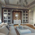 идея необычного интерьера гостиной комнаты 25 кв.м картинка