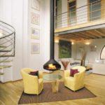 пример применения красивого стиля гостиной комнаты с камином картинка