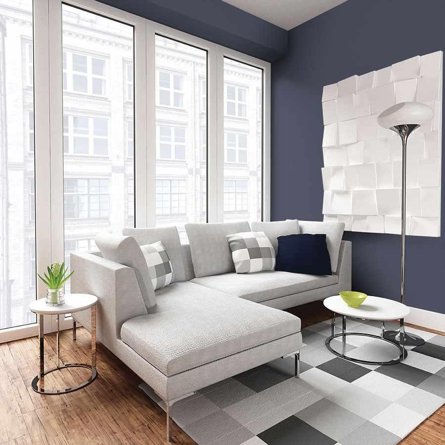 идея яркого декора гостиной комнаты 2018