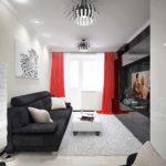 вариант красивого дизайна гостиной комнаты 16 кв.м фото