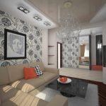 пример светлого декора гостиной комнаты 19-20 кв.м картинка
