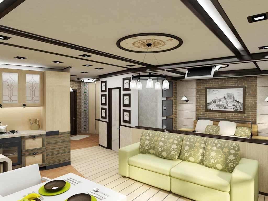 пример светлого интерьера гостиной комнаты 17 кв.м