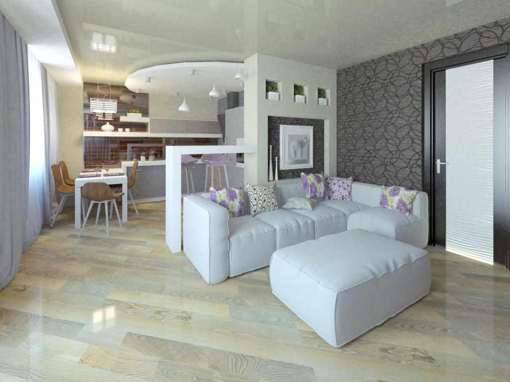 пример красивого интерьера гостиной комнаты 25 кв.м