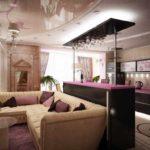 вариант красивого интерьера гостиной комнаты 17 кв.м фото