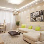 идея необычного дизайна гостиной комнаты 2018 фото