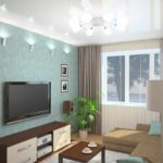 вариант светлого декора гостиной комнаты 16 кв.м картинка