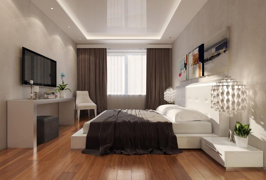 потолок в спальне дизайн