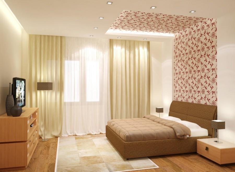дизайн спальни 2018 года освещение