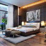дизайн спальни 2018 шторы