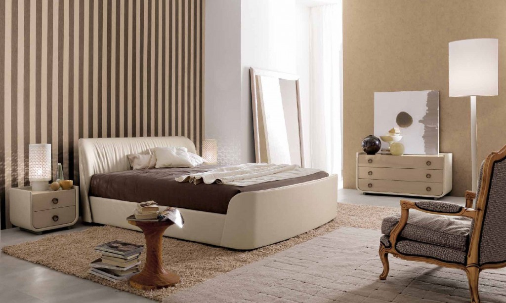 бежевая спальня дизайн 2018