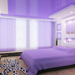 фиолетовый дизайн спальни