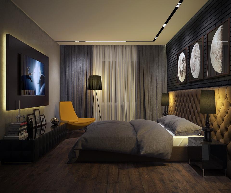 дизайн спальни 11 кв м фото