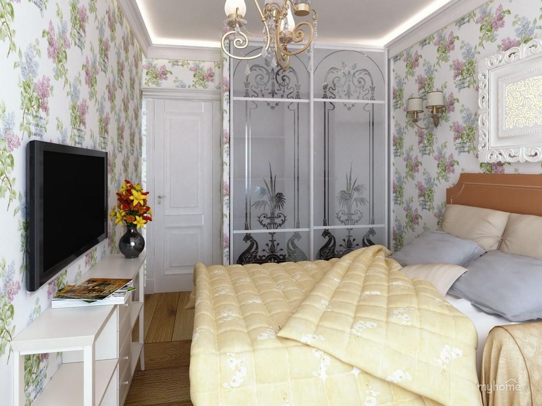 дизайн спальни 11 кв м с декором