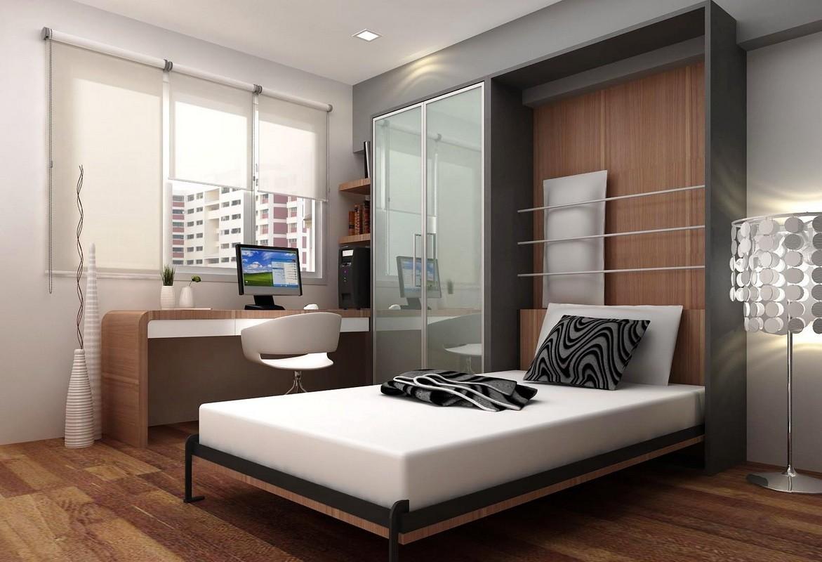 спальня 11 кв м с кроватью трансформером
