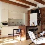 Белый цвет в оформлении кухни лофт