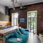 Окна до пола в дизайне кухонного помещения