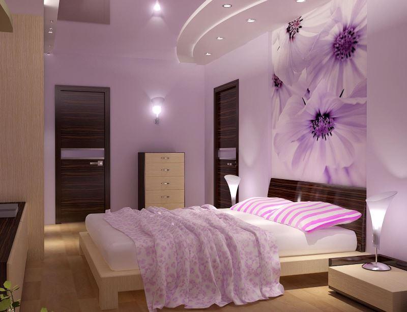 Интерьер современной спальни для молодой девушки