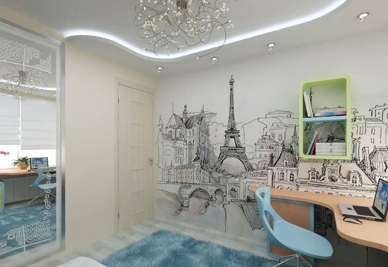 Монохромные обои с изображением столицы Франции