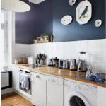 Синий цвет в оформлении кухни