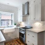 Имитация кирпичной кладки в интерьере кухни