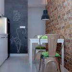 Кухня в стиле лофт в квартире панельного дома