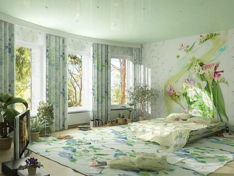 Дизайн красивой спальни для молодой девушки