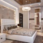 дизайн спальни бежевые тона
