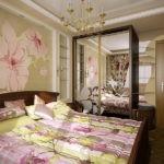 дизайн спальни цветочное оформление