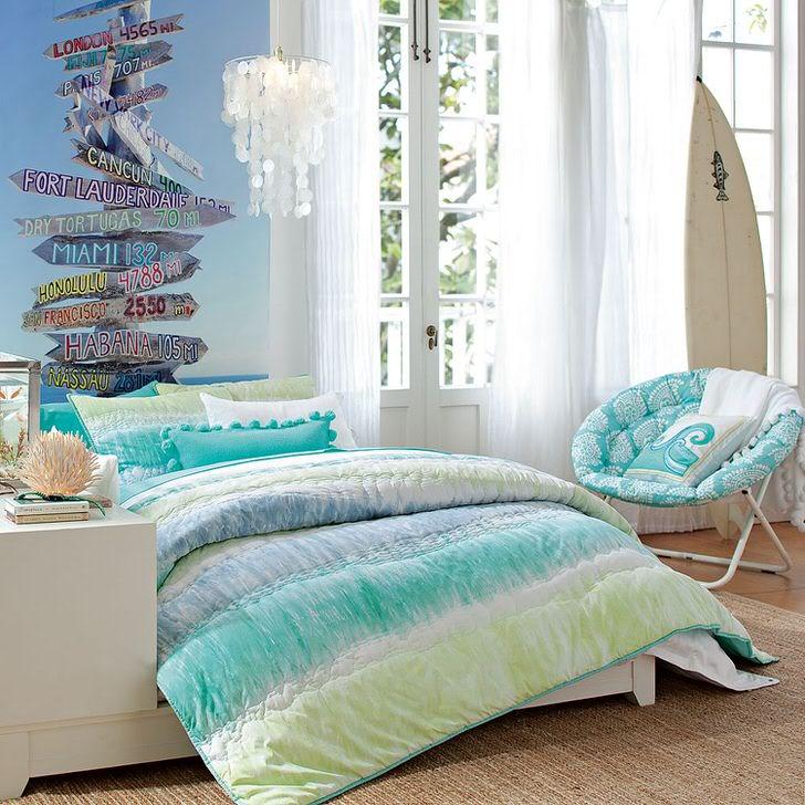 Дизайн спальни для девушки в сиреневых оттенках
