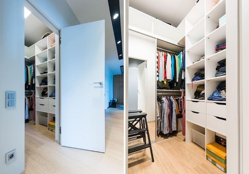 Организация гардеробной комнаты в прихожей частного дома