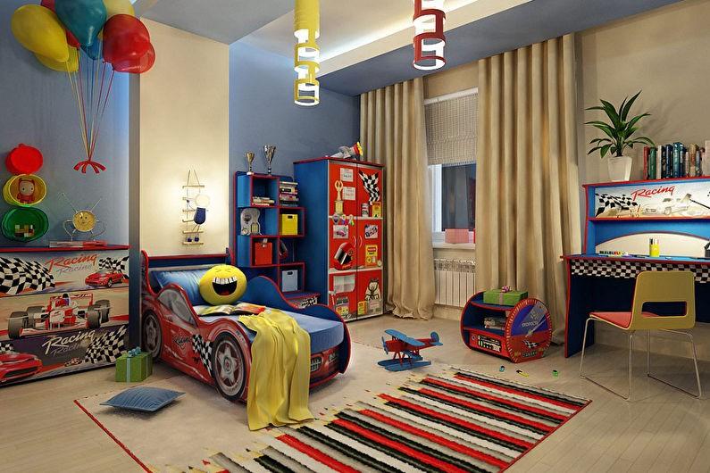 Кровать в форме автомобиля из мультфильма