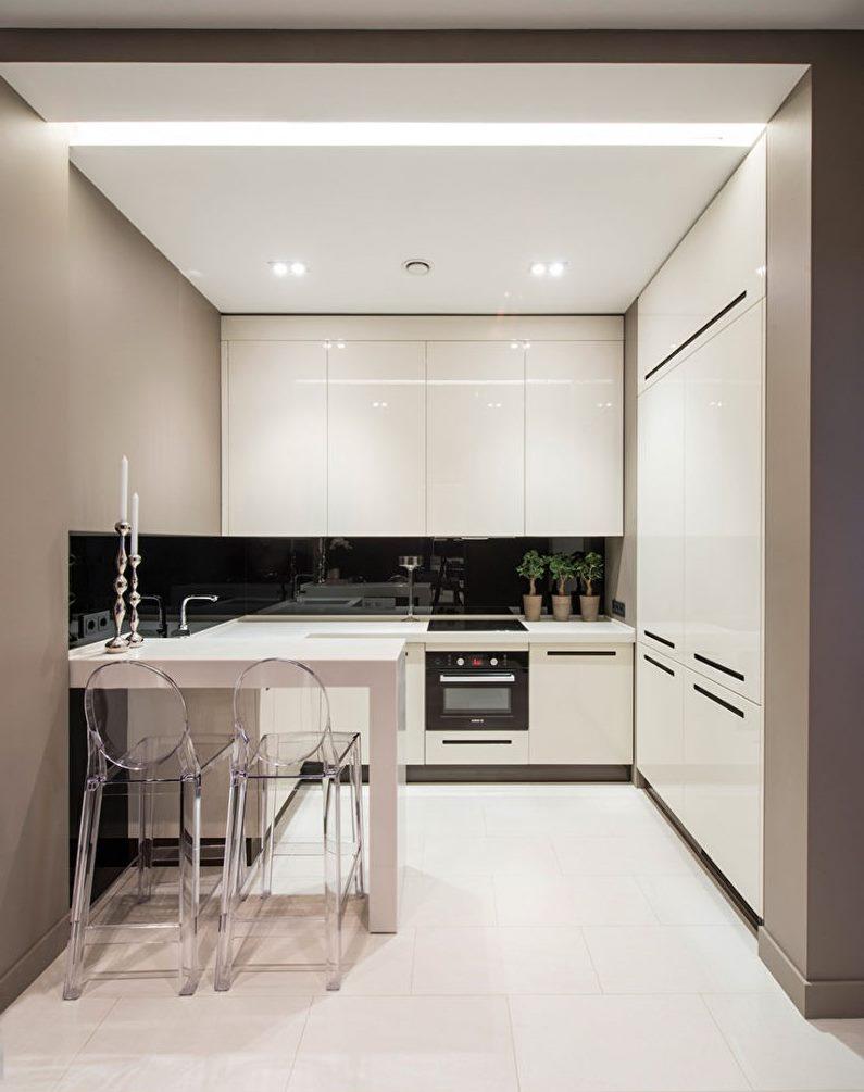 Маленькая кухня в стиле минимализма
