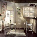 Цветочные мотивы для декора кухни в стиле прованс