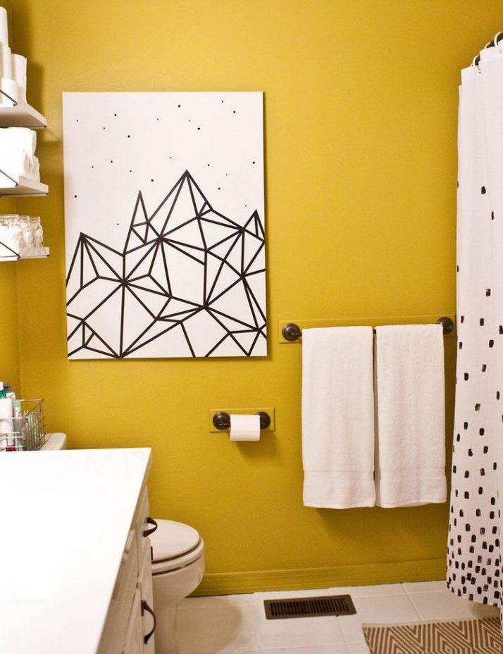 Абстрактная картина на стену ванной своими руками