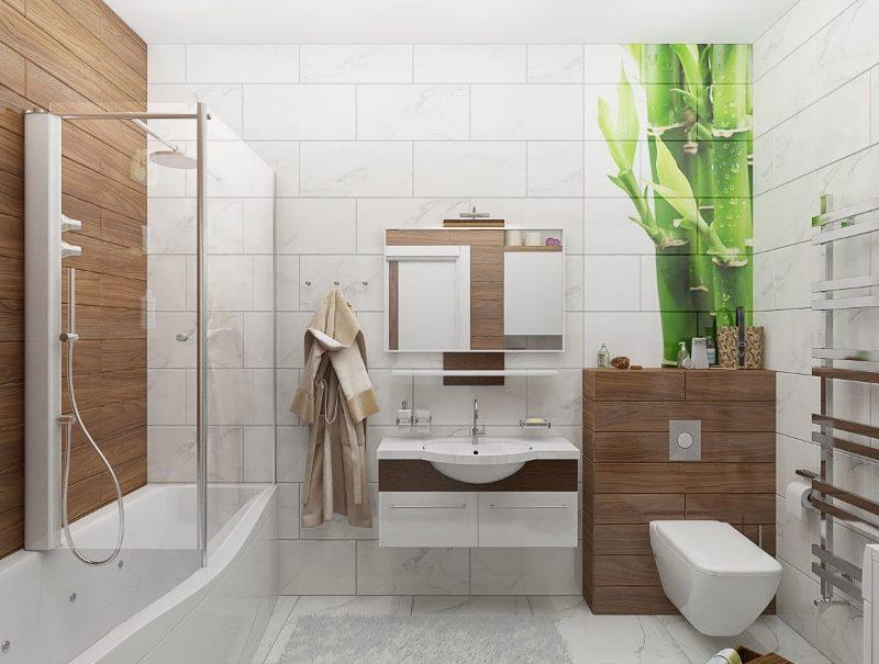 Дерево в дизайнерских тенденциях интерьера ванной в 2018 году