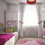 Интерьер детской комнаты в серых тонах