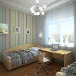 Спальня для двух детей площадью 12 квадратов