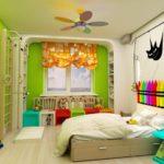 Яркий интерьер комнаты для ребенка