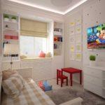 Акценты красного цвета в интерьере детской комнаты