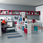 Корпусная мебель в комнате мальчика и девочки
