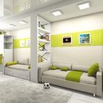Плоские светильники в детской комнате