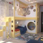 Двухэтажная мебель для детской комнаты