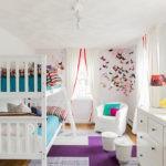 Планировка детской с тремя окнами