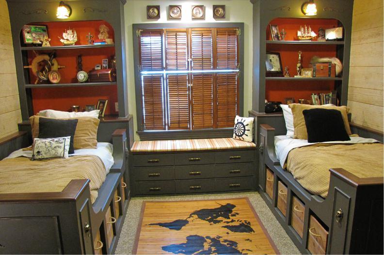 Детские кровати в пиратском стиле из дерева